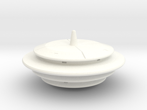 Saucer Series 3 in White Processed Versatile Plastic