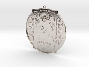 Alpha Realm Babe Pendant in Platinum