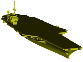 1/3000 scale USS Kitty Hawk CV-63 aircraft carrier in Smooth Fine Detail Plastic