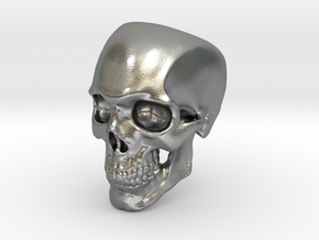 Human Skull Ring size 12 in Natural Silver
