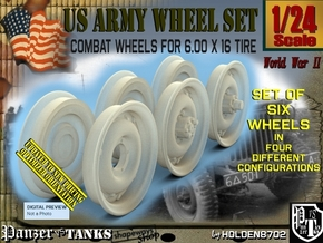 1/24 RIMS for tire 600x16 Set001 in Smooth Fine Detail Plastic