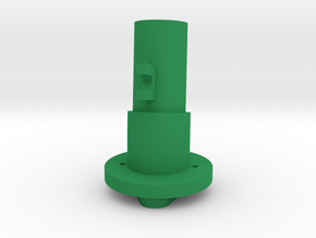 Thrustmaster tailpiece, 13° ang. 15°off. to the RI in Green Processed Versatile Plastic