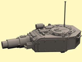 28mm Invader tank turret (for old kit) in White Processed Versatile Plastic