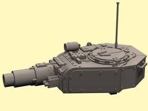 28mm Invader tank turret in White Processed Versatile Plastic