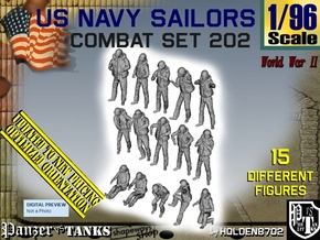 1/96 USN Combat set 202 in Smooth Fine Detail Plastic