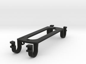Tele-neck-sized - (eureka) Sound Hole Pickup Mount in Black Natural Versatile Plastic