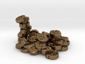 """Pile of Shanix (1"""" diameter) in Natural Bronze"""