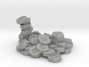 "Pile of Shanix (1"" diameter) in Aluminum"