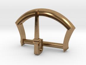 "1"" Belt Buckle in Natural Brass"