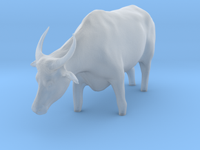 Domestic Asian Water Buffalo 1:24 Stands in Water in Smooth Fine Detail Plastic