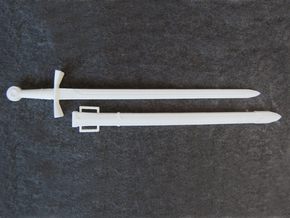 Crusader Sword Deluxe - 1:3 in White Natural Versatile Plastic