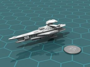 Novus Regency Missile Cruiser in White Natural Versatile Plastic