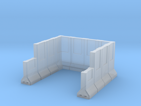 Concrete Retaining Wall Single Bay in Smooth Fine Detail Plastic