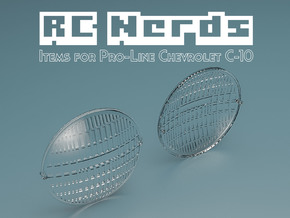 RCN033 Front Light Lens for Chevy 66 Pro-Line  in Smooth Fine Detail Plastic