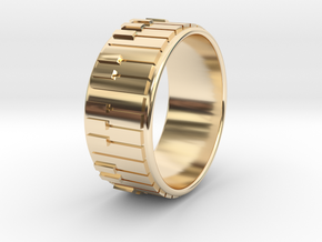 Piano Ring - US Size 11 in 14K Yellow Gold