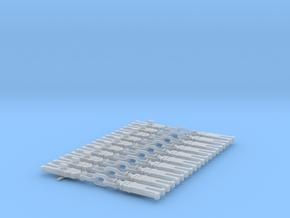 NEM OO Type 31 Couplings - Strait 3 Link x10 in Smooth Fine Detail Plastic