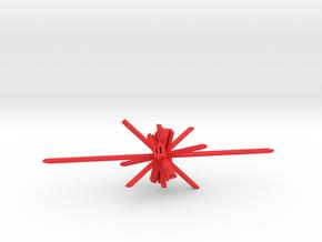 Laser d6 in Red Processed Versatile Plastic