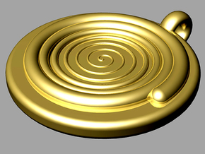 spiral pendant II (bigger edition) in Natural Brass