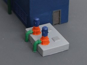 N Scale Cooling Pump Station in Smooth Fine Detail Plastic