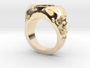Skull Signet Ring blank size 12 in 14K Yellow Gold