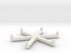 Omni Scale Stand Six-Prong Stand Topper SRZ in White Natural Versatile Plastic