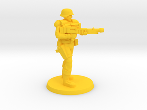 PDF Trooper with Light Machine Gun in Yellow Processed Versatile Plastic