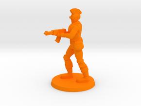 Mercenary Andrew in Orange Processed Versatile Plastic