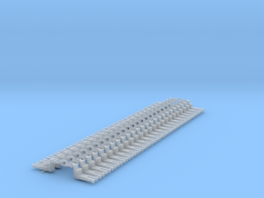 NEM OO Type 28 Couplings - Big-Step Up 3 Link x25 in Smooth Fine Detail Plastic