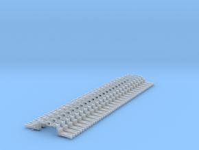 NEM OO Type 43 Couplings - Big-Step Up 3 Link x25 in Smooth Fine Detail Plastic