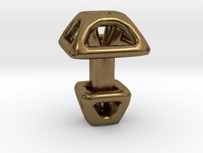 Square Cufflink in Natural Bronze