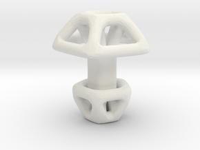 Pentagonal Cufflink  in White Natural Versatile Plastic