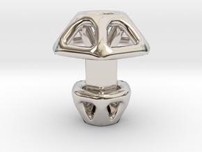 Hexagonal Cufflink in Platinum