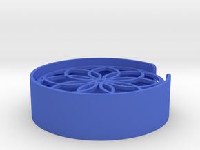 Flower Soap Dish in Blue Processed Versatile Plastic