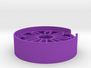 Hexagon Soap Dish in Purple Processed Versatile Plastic