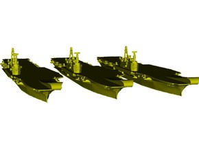 1/1800 scale HMS Hermes R-12 aircraft carriers x 3 in Smooth Fine Detail Plastic