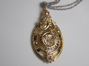 Botanika Mechanicum Pendant in Raw Brass