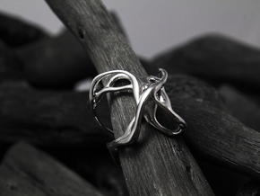 Muut_Ring (Phase 3) in Polished Silver: 6 / 51.5
