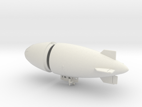US Army AC-1  Airship 1/700 & 1/600 scale in White Natural Versatile Plastic: 1:700