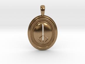 Bloodborne Hunter's Mark Pendant/Keychain in Natural Brass