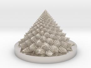 Romanesco fractal Bloom zoetrope (backwards) in Platinum: Medium