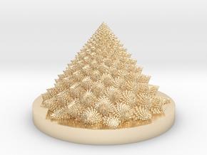 Romanesco fractal Bloom zoetrope (more resolution) in 14K Yellow Gold: Medium