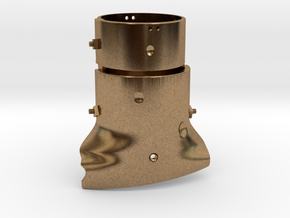 Ned Kelly Outlaw Helmet 1:6 Scale in Natural Brass