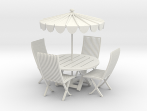 Printle Thing Picnic Table - 1/24 in White Natural Versatile Plastic