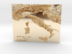 MyTinyCountries ITALY in 14k Gold Plated Brass