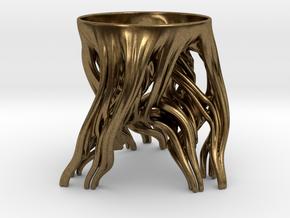 Tripod Julia bowl in Natural Bronze: Small