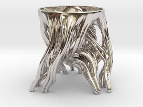 Tripod Julia bowl in Platinum: Small