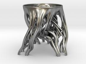 Tripod Julia bowl (thin) in Natural Silver