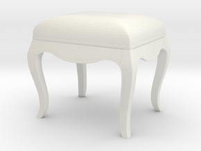 Printle Thing Stool 01 - 1/24 in White Natural Versatile Plastic