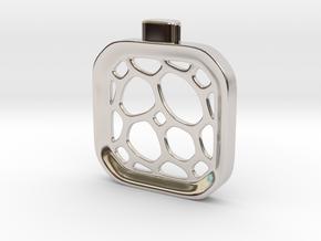 Surround ::: Square Pendant ::: v.01 in Rhodium Plated Brass