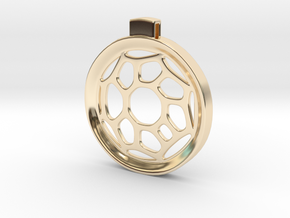 Surround ::: Circle Pendant ::: v.01 in 14k Gold Plated Brass